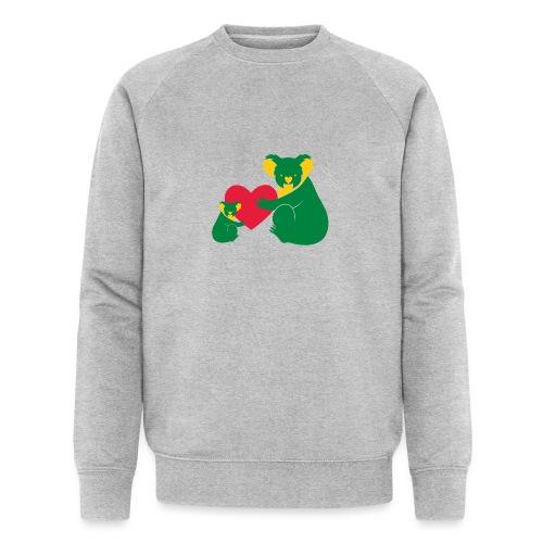 Koala Heart Baby - Men's Organic Sweatshirt by Stanley & Stella