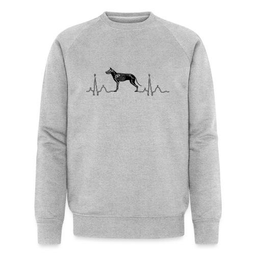 ECG met hond - Mannen bio sweatshirt