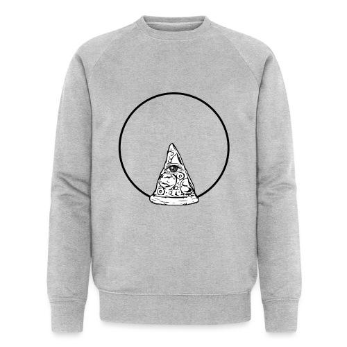 All sehendes Auge Pizza (schwarzer Druck) - Männer Bio-Sweatshirt von Stanley & Stella
