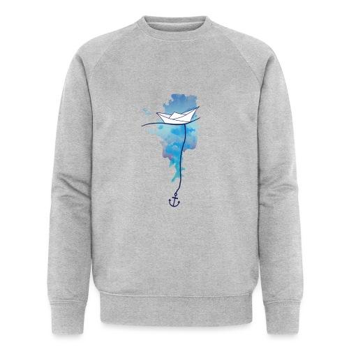 Papierschiff - Männer Bio-Sweatshirt von Stanley & Stella