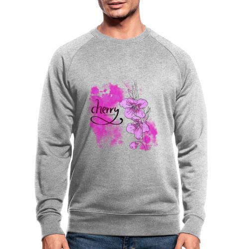 Kirschblüten Zweig - Männer Bio-Sweatshirt