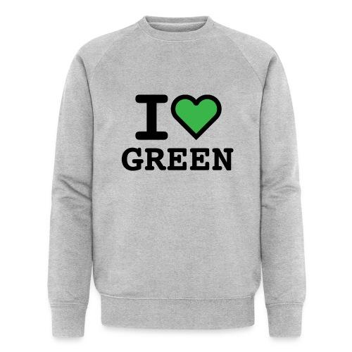 i-love-green-2.png - Felpa ecologica da uomo di Stanley & Stella