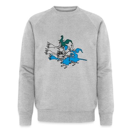 Witches on broomsticks Men's T-Shirt - Men's Organic Sweatshirt by Stanley & Stella