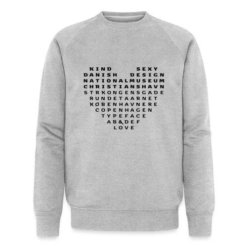 Copenhagen Heart - Økologisk sweatshirt til herrer