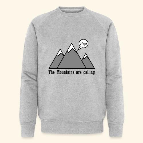 mountains calling - Männer Bio-Sweatshirt