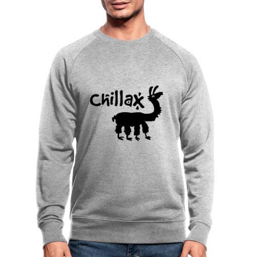 chillax - Männer Bio-Sweatshirt