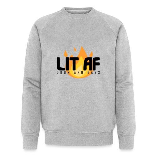 LIT AF Drum and Bass - Männer Bio-Sweatshirt