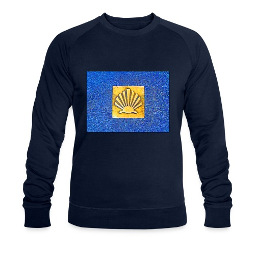 Scallop Shell Camino de Santiago - Men's Organic Sweatshirt