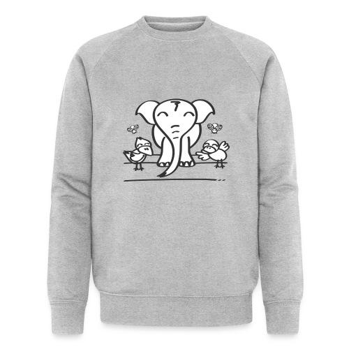 78 elephant - Männer Bio-Sweatshirt