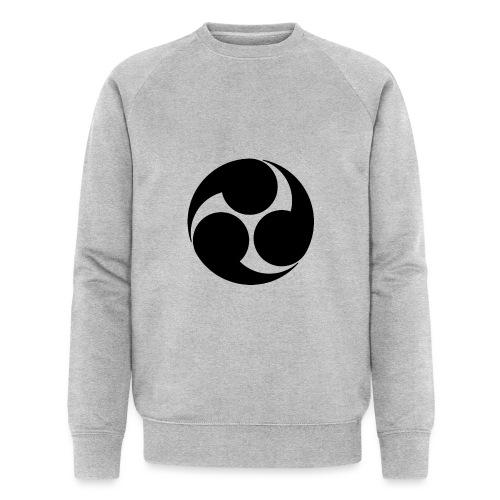 Kobayakawa Mon Japanese clan black - Men's Organic Sweatshirt by Stanley & Stella