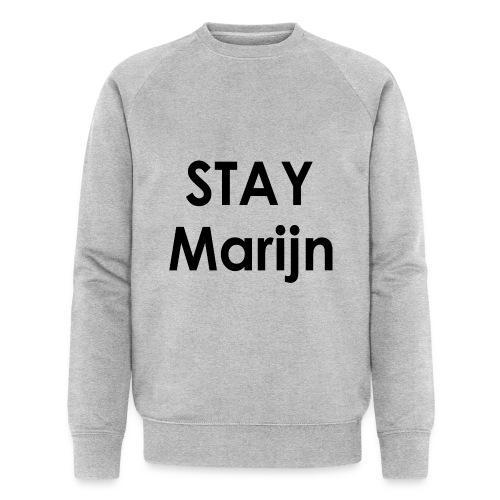 stay marijn black - Mannen bio sweatshirt