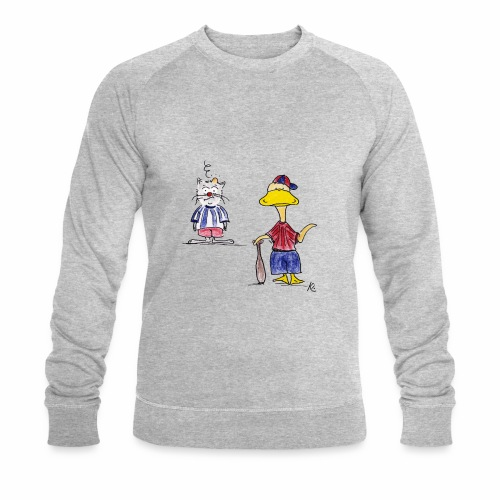 Cartoon Baseball - Männer Bio-Sweatshirt