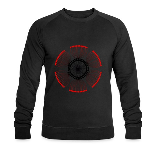 Red Poppy Seeds Mandala - Men's Organic Sweatshirt by Stanley & Stella