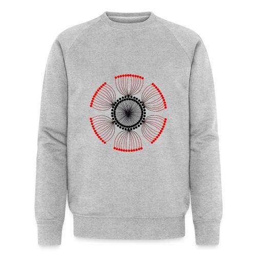 Red Poppy Seeds Mandala - Men's Organic Sweatshirt by Stanley & Stella