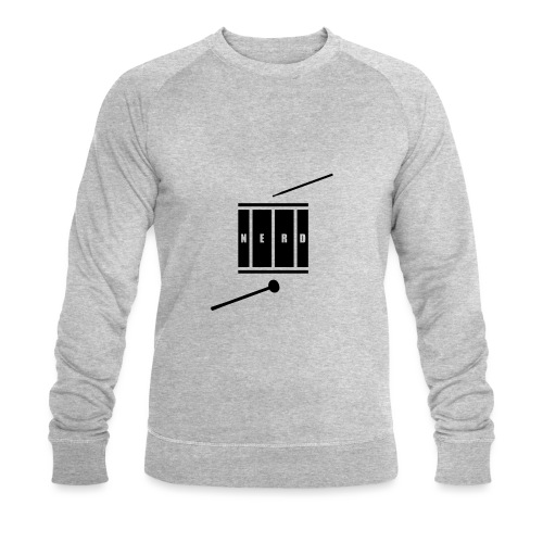 Nerd_Logo Black - Økologisk sweatshirt til herrer