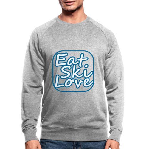 eat ski love - Mannen bio sweatshirt