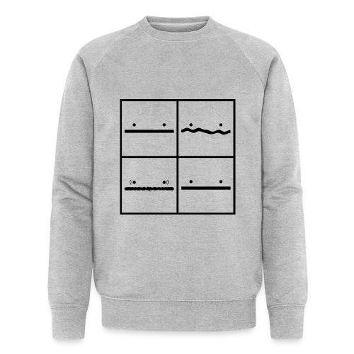 Pokerface - Männer Bio-Sweatshirt von Stanley & Stella
