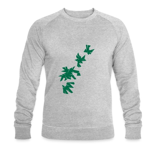 Green Leaves - Männer Bio-Sweatshirt