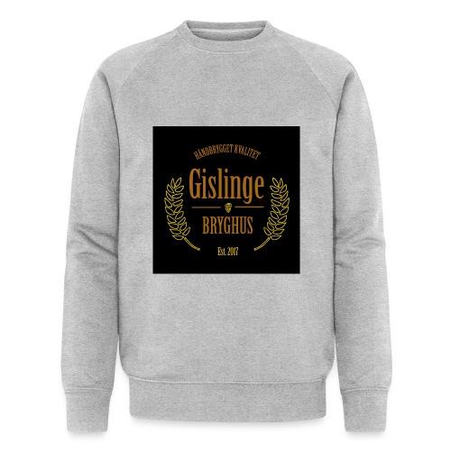 Sort logo 2017 - Økologisk sweatshirt til herrer