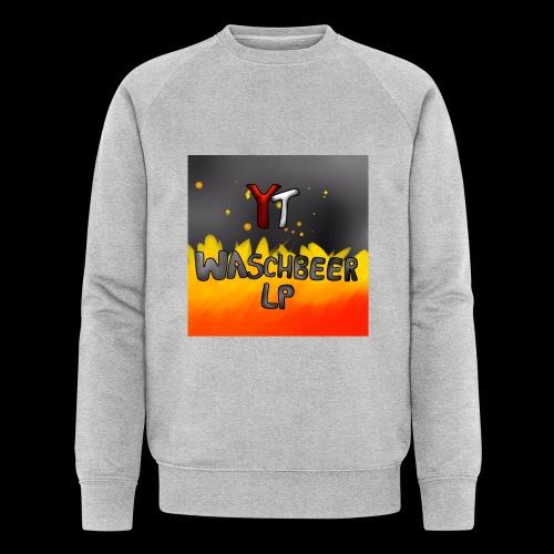 Waschbeer Design 2# Mit Flammen - Männer Bio-Sweatshirt von Stanley & Stella
