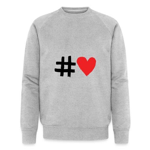 #Love - Økologisk sweatshirt til herrer