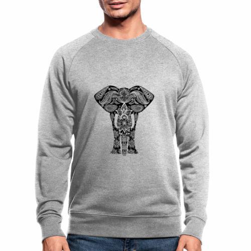 Ażurowy słoń - Ekologiczna bluza męska