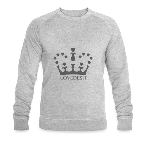 Lovedesh Crown (Dark Grey) - Men's Organic Sweatshirt by Stanley & Stella