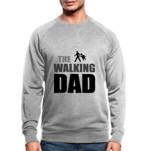 the walking dad auf dem Weg in die lustige Bar - Männer Bio-Sweatshirt