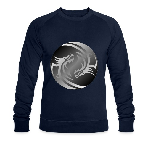Yin Yang Dragon - Men's Organic Sweatshirt by Stanley & Stella