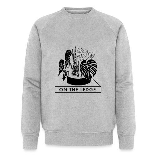 On The Ledge black and white logo - Men's Organic Sweatshirt