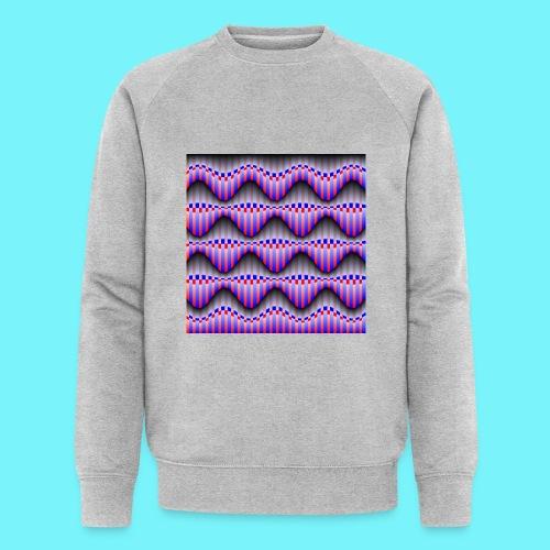 Sine waves in red and blue - Men's Organic Sweatshirt