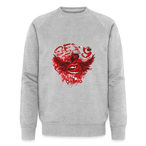 SEXY Lips heart Wings - Sexy Lippen Herz Flügel - Männer Bio-Sweatshirt von Stanley & Stella