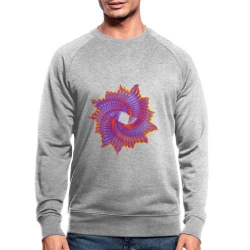 Spiral fan ammonite prehistoric animal fossil 11912bry - Men's Organic Sweatshirt