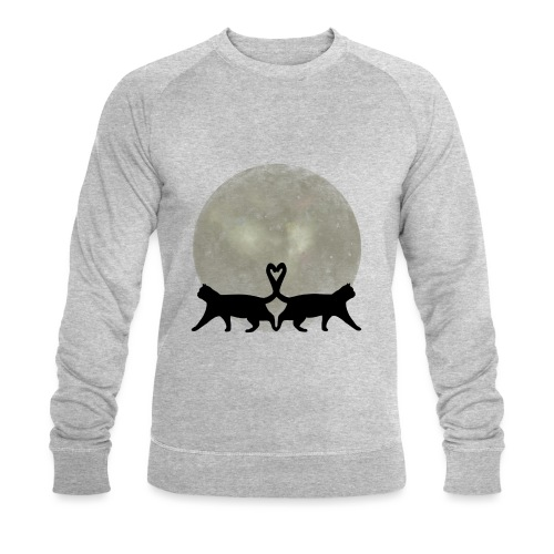 Cats in the moonlight - Mannen bio sweatshirt