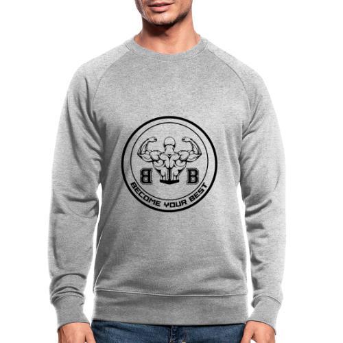 BYB logo black - Økologisk sweatshirt til herrer