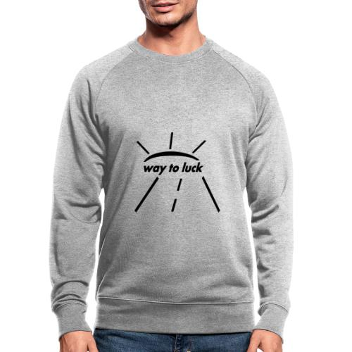 way to luck logo schwarz - Männer Bio-Sweatshirt