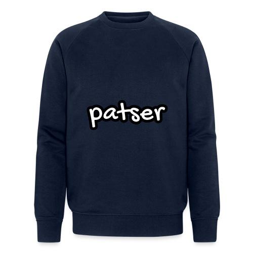 Patser - Basic White - Mannen bio sweatshirt