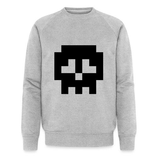 Retro Gaming Skull - Men's Organic Sweatshirt by Stanley & Stella