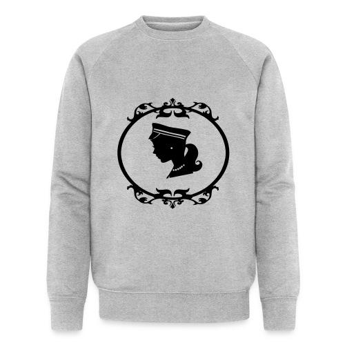 Mädel oval 1 farbig - Männer Bio-Sweatshirt