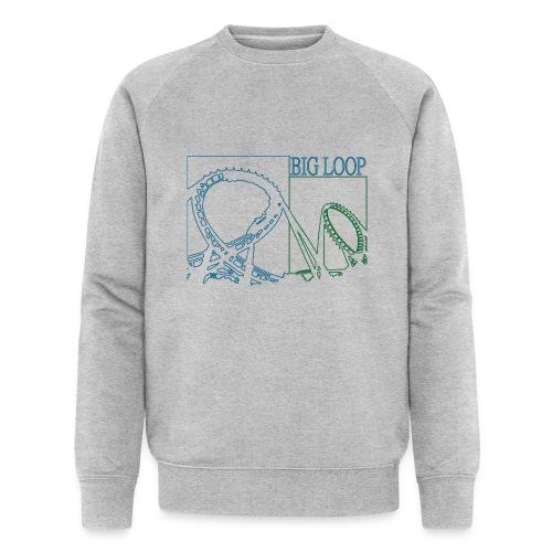 big_loop_coaster_shirt_line - Männer Bio-Sweatshirt von Stanley & Stella