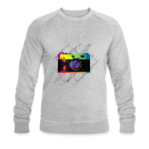 Vintage Rangefinder Film Camera Pop Art Style - Men's Organic Sweatshirt by Stanley & Stella