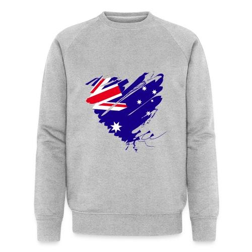 Australien Sydney Kontinent Grunge Herz Fahne - Männer Bio-Sweatshirt von Stanley & Stella