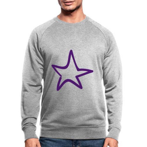 Star Outline Pixellamb - Männer Bio-Sweatshirt