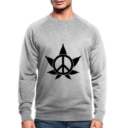 Peace - Männer Bio-Sweatshirt