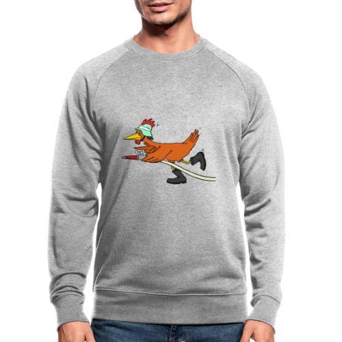 Flori Hahn löscht - Männer Bio-Sweatshirt von Stanley & Stella