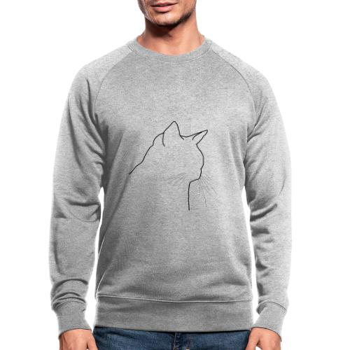 Katzenkopf - Männer Bio-Sweatshirt