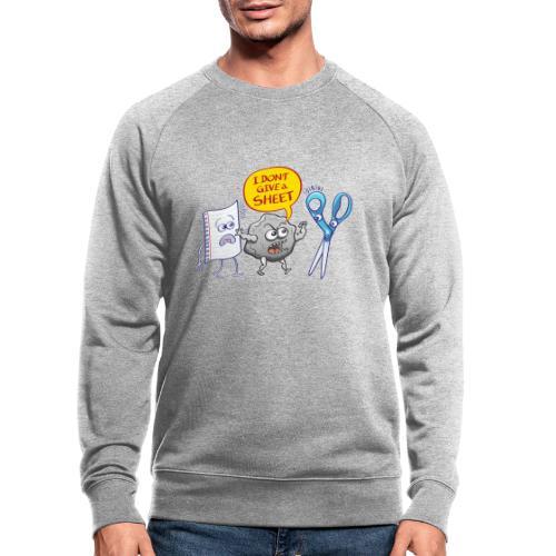 Pierre fâchée donne pas feuille papier aux ciseaux - Men's Organic Sweatshirt