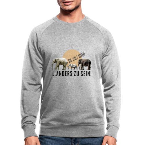 Stolz anders zu sein - Männer Bio-Sweatshirt