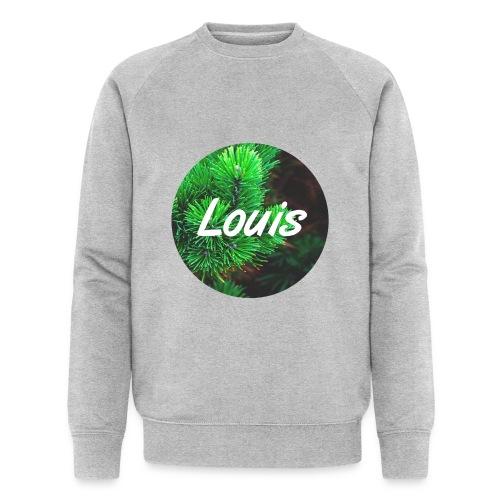 Louis round-logo - Männer Bio-Sweatshirt