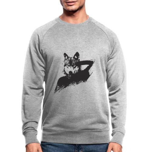 illustration zoom loup noir - Sweat-shirt bio
